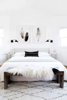 We get a glimpse inside fashion blogger Kimberly Lapide's bedroom, and it is gorgeous. Interior designer Anne Sage used a lot of texture over color to create one cohesive space. See more photos here in our post.