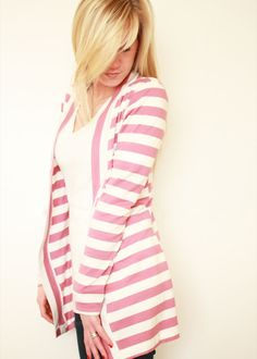 Elle Apparel: Striped Cardigan