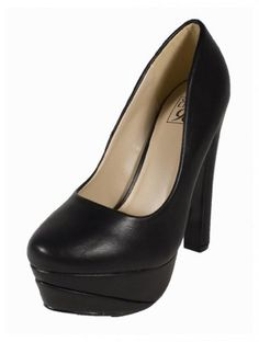 Amazon.com: Cup! By Speed Limit 98 Hot and Sexy Muti Tone Colorblock Platform Chunky Heel Pump, black Leatherette, 7.5 M: Shoes
