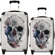The stylish Flower Skull suitcase will hold everything you need wherever in the world you go.