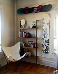snowboard decoration and design racks for your apartment or home