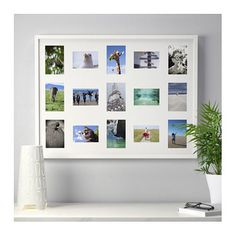 IKEA RIBBA frame for 15 pictures The mount enhances the picture and makes framing easy.