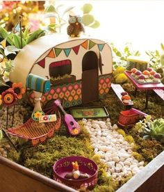 Most adorable mini garden I have ever seen.