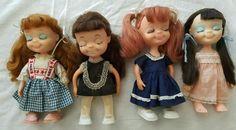 LITTLE SOPHISTICATES Lot of 4 Dolls 1967 UNEEDA Japan Hong Kong #Uneeda #Dolls