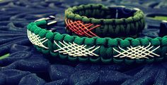 Shoelace lattice lacing a paracord bracelet, cont...