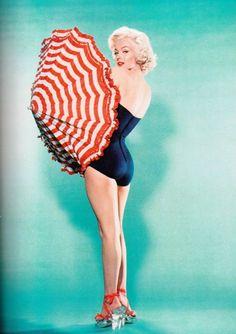 Marilyn in 1953 by Bert Reisfeld. #SoleilGlow #gotitfree from Bzzagent. Bikini and bathing suit ready! ❤️