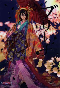 Rukia,from Bleach,dressed as an oiran. Rukia Bleach, Bleach Manga, Ichigo And Rukia, Kuchiki Rukia, Shinigami, Bleach Characters, Anime Characters, Familia Anime, Anime Shows