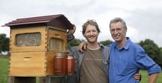 """Veteran beekeepers are calling it """"mindboggling."""" A father-son team in Australia invented the Flow Hive which allows users to collect honey on tap directly from their beehives without disturbing bees."""