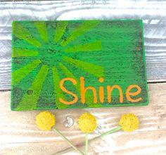 shine wood sign shine sign rustic shine by THERUSTICBEACHHOUSE
