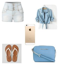 """""""summer time"""" by shamyamorton ❤ liked on Polyvore featuring LE3NO, American Eagle Outfitters and MICHAEL Michael Kors"""