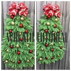 Christmas Tree Tutorial DIY Christmas Wreath Tutorial Video