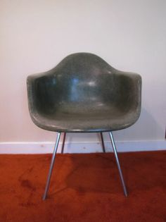 Herman Miller Fiberglass Shell Chair, Herman Miller Molded Fiberglass Arm Chair, Green Shell Chair, H-Base Chair, Eames Chair by CapeCodModern on Etsy