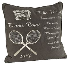 Royal Tennis Square Cushion Material: Cotton Mix Cover Colour: Dark Brown Size: 50cm x 50cm Continue reading →