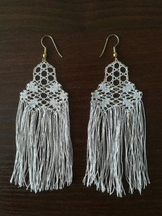 Excited to share the latest addition to my #etsy shop: Lace drop earrings https://etsy.me/2ypUa5n