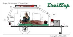 """TrailTop"" modular trailer topper building components - Page 67 - Expedition Portal Small Camping Trailer, Diy Camper Trailer, Off Road Trailer, Small Trailer, Small Campers, Airstream Trailers, Rv Campers, Travel Trailers, Expedition Trailer"