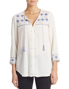 Embroidered Tunic | Lord and Taylor