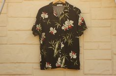 Vintage 80s-90s Hawaii Shirt Tropical Orchids by SycamoreVintage