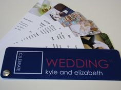 swatch book wedding invite. . .adorably creative. I probably wouldn't do this exactly but I like the innovation.