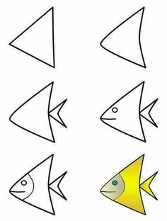 Draw an arrow fish doodle drawings, cartoon drawings, fish drawings, animal drawings, Fish Drawings, Doodle Drawings, Cartoon Drawings, Animal Drawings, Doodle Art, Fish Cartoon Drawing, Drawing Animals, Drawing Lessons For Kids, Easy Drawings For Kids