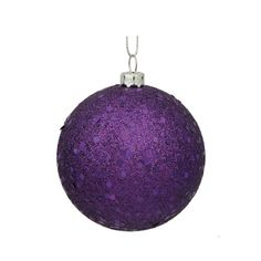 Purple Sequin Ball Ornament 150mm
