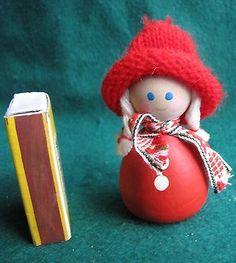 Vintage-Wood-Christmas-Doll-Elf-Gnome-Santa-Tomte-Sweden-Figurine-Figure-3