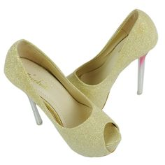 New Fashion Women's Glitter Platform Peep Toe High Heel Shoes 4Colors