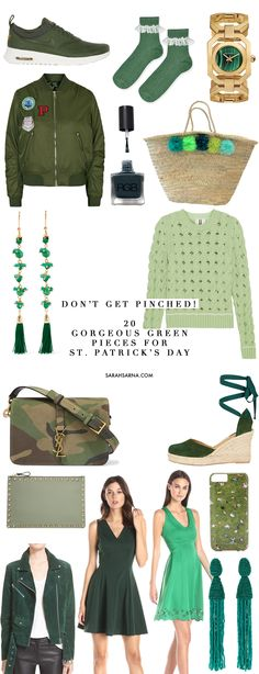 20 gorgeous green fashion ideas to wear for St. Patrick's Day.