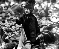 """Emmeline Pankhurst 1858-1928    """"A British suffragette, Emily Pankhurst dedicated her life to the promotion of women's rights. She explored all avenues of protest including violence, public demonstrations and hunger strikes. She died in 1928, 3 weeks before a law giving all women over 21 the right to vote."""""""
