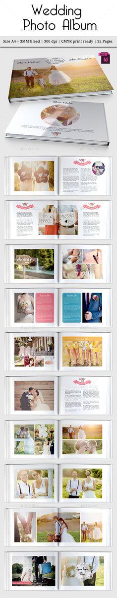 Wedding Photo Album Template #design Download: http://graphicriver.net/item/wedding-photo-album-vol-3/12807215?ref=ksioks