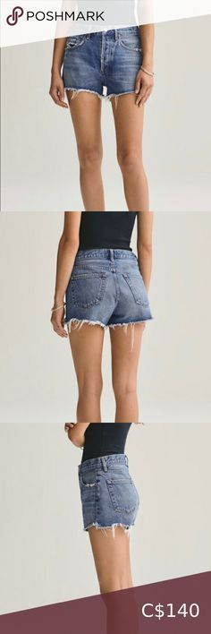 """Agolde Parker Vintage Shorts SIZE AND FIT Vintage Loose Cut-Off Short 