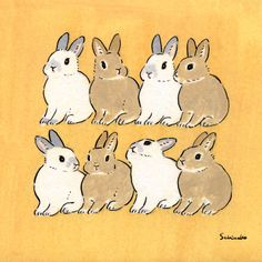 Acrylic Paint by Schinako Moriyama. Schinako Moriyama is an illustrator as bunny art from Fukushima, Japan Continue reading and for more Acrylic art→View Website Bunny Drawing, Bunny Art, Cute Bunny, Art Inspiration Drawing, Art Inspo, Cute Drawings, Animal Drawings, Animals Watercolor, Art Anime