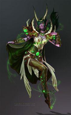 A fan art redesign of the dragon Aspect Ysera, from World of Warcraft. See my gallery for the other redesigns!