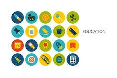 Flat icons set - Education by sidmaydesign on Creative Market