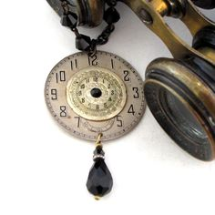 Vintage Watch Dials Black Necklace Exclusive Design by Mystic Pieces