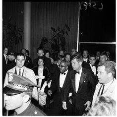 From USC Libraries: John F. Kennedy at LAX in 1961.