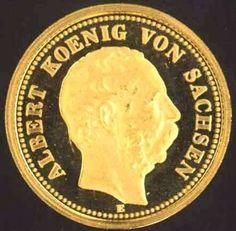 Saxony, 20 Mark 1877 E, gold coin 2 g, 1.7 cm, in very fine.  Dealer Badisches Auktionshaus  Auction Starting Price: 45.00EUR