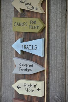 Directional Sign Camping Sign by TheVarietyShop on Etsy