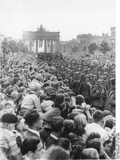 JUL 18 1940 Berliners celebrate their victorious Army Massed crowds watch a Wehrmacht victory parade through Berlin