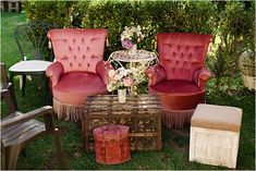Couple's garden seating area | Image by Matt + Lena Photography French Wedding Style, Country Style Wedding, Cozy Wedding, Wedding Hire, Seating Cards, Groom Outfit, Garden Seating, Bride Look, Wedding Styles