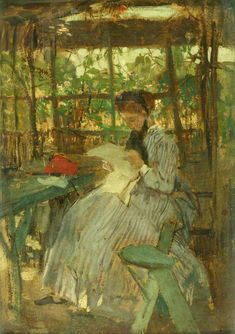 In the Garden  Jacob Henricus Maris (1837–1899)  Manchester Art Gallery