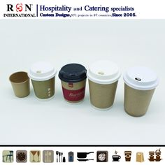 kraft paper tea cup coffee cups for cafe shop Paper Tea Cups, Hospitality Supplies, Take Away Coffee Cup, Disposable Coffee Cups, Cafe Shop, Party Cups, Kraft Paper, Dinnerware, Catering