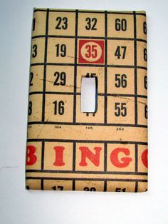 Light Switch Cover - Light Switch Plate Bingo