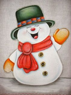 Gift ideas: Christmas is coming Christmas or the Christ event, the Festival of lights, the Party of peace, or the Christ. Christmas Rock, Christmas Canvas, Christmas Colors, Christmas Snowman, Vintage Christmas, Christmas Decorations, Christmas Ornaments, Snowman Faces, Cute Snowman