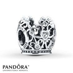 PANDORA Charm Disney, Princess Crown  Sterling Silver - $70.00