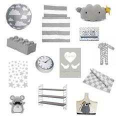 Grijze Duif - Grey   Moodboards GOJV   Gras onder je voeten   Unisex kinderkamer   kidsroom