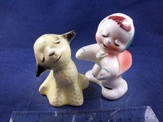 VTG Van Tellingen Dutch Girl & Lamb Hugging Salt & Pepper Shakers 1660B16 http://stores.ebay.com/snpshakers