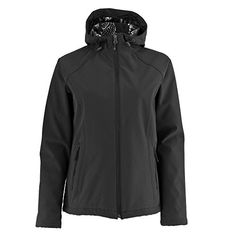 White Sierra Womens South Shore Hooded Softshell Black Outerwear LG * Read more  at the image link.