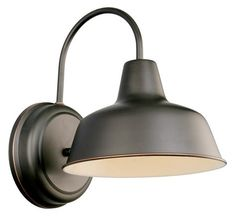 Design House 519504 Mason Collection 11-Inch Outdoor Down light, Oil Rubbed Bronze Finish