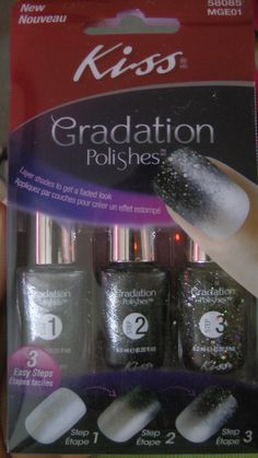 Check out the gradient nail polish set (by KISS) I received from Influenster!!!