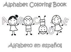 Preschool Alphabet Coloring Book In Spanish Teach Learn The Circle
